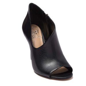 Vince Camuto Careeta Leather Peep Toe Booties